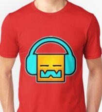 Geometry Dash headphones Unisex T-Shirt