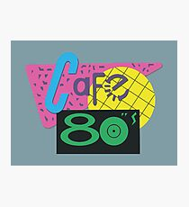 Cafe 80s – Back To The Future II, Marty McFly, Pepsi Perfect Photographic Print