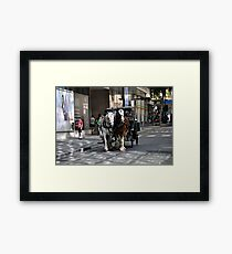 Melbourne City Streetscape Framed Print