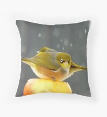 I Have A Sinking Feeling Hun!!! - Silvereyes - NZ ** Throw Pillow