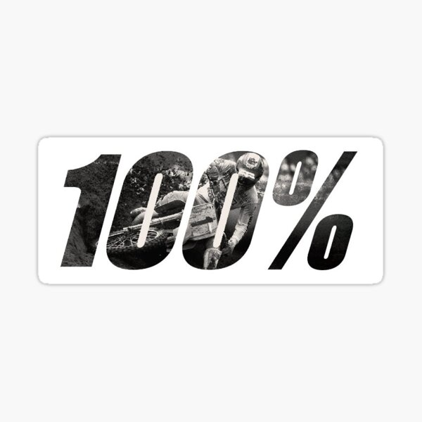 100% Motocross Sticker