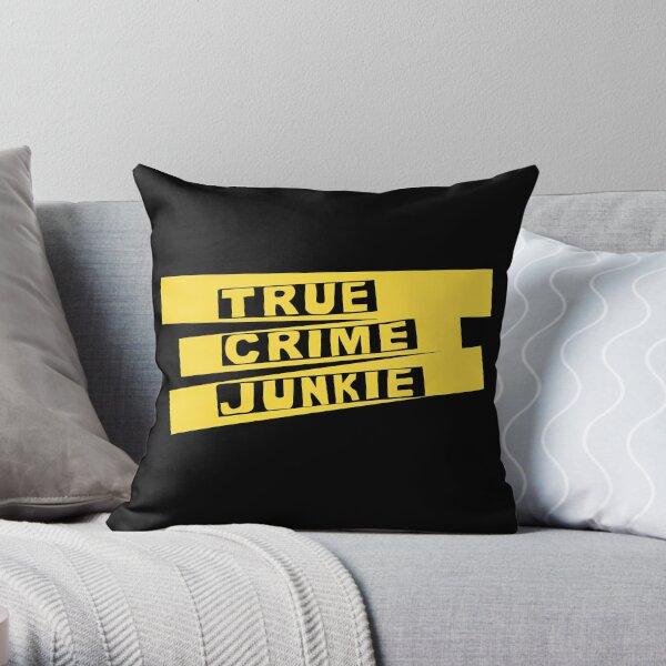 True Crime Junkie Crime Scene Tape Throw Pillow