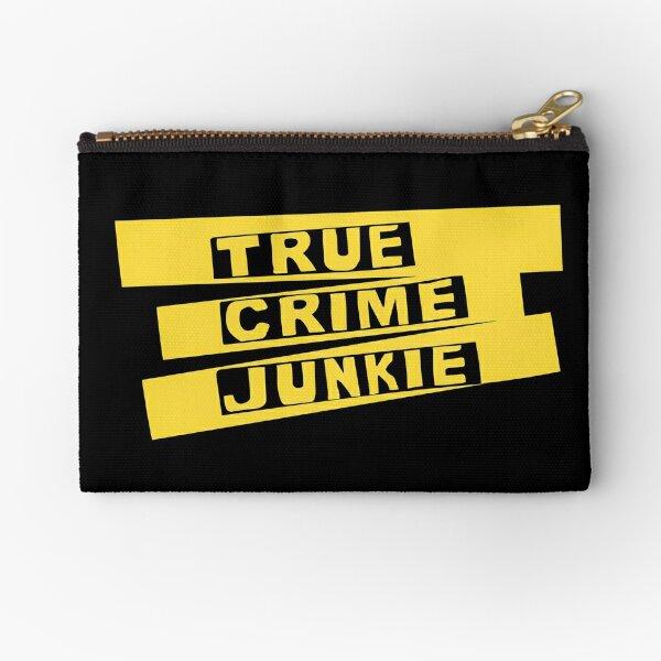 True Crime Junkie Crime Scene Tape Zipper Pouch