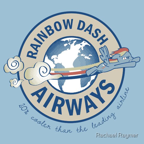 TShirtGifter presents: Rainbow Dash Airways