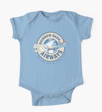 Rainbow Dash Fluglinien Baby Body Kurzarm