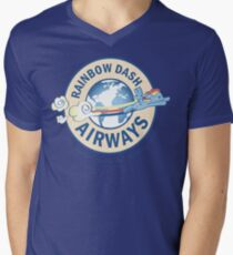 Rainbow Dash Airways Men's V-Neck T-Shirt