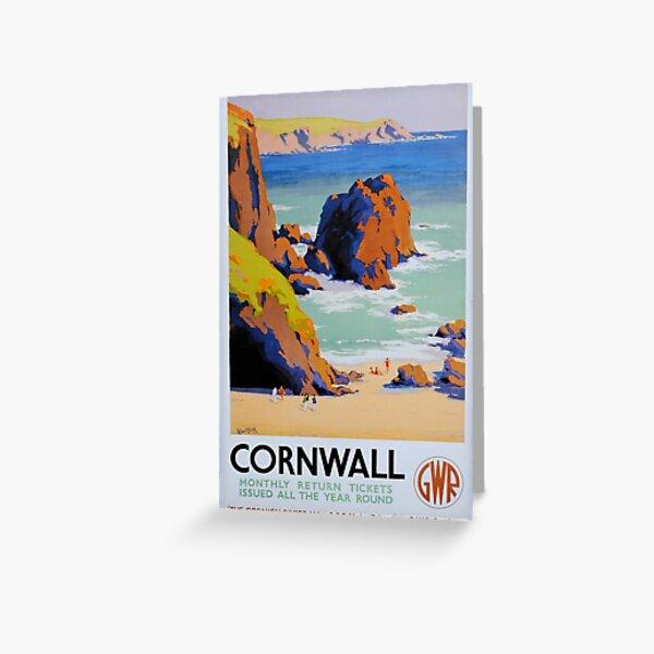 Great Western Railway Cornwall vintage poster Greeting Card
