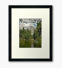 Rafting under Half Dome Framed Print