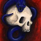 Skull and Snake  Red by Lee Twigger