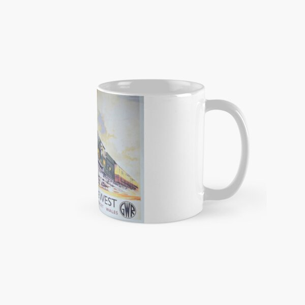 GWR vintage advert 'Speed To The West' Classic Mug