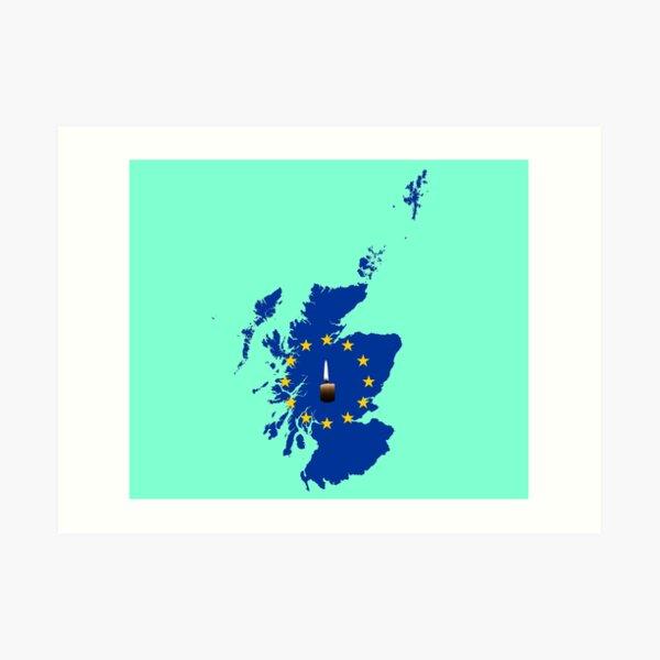 Leave a Light on for Scotland Art Print