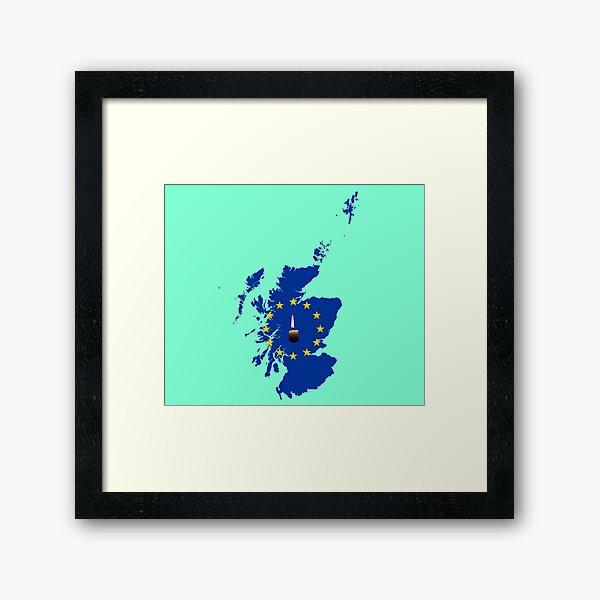Leave a Light on for Scotland Framed Art Print