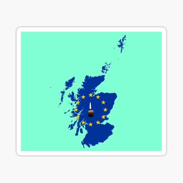 Leave a Light on for Scotland Sticker