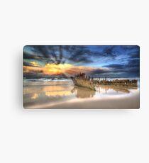 Sunrise Shipwreck Canvas Print