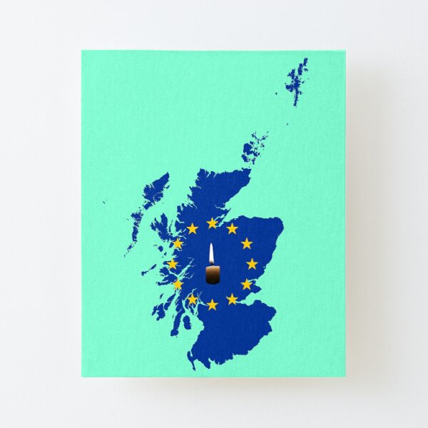 Leave a Light on for Scotland Canvas Mounted Print