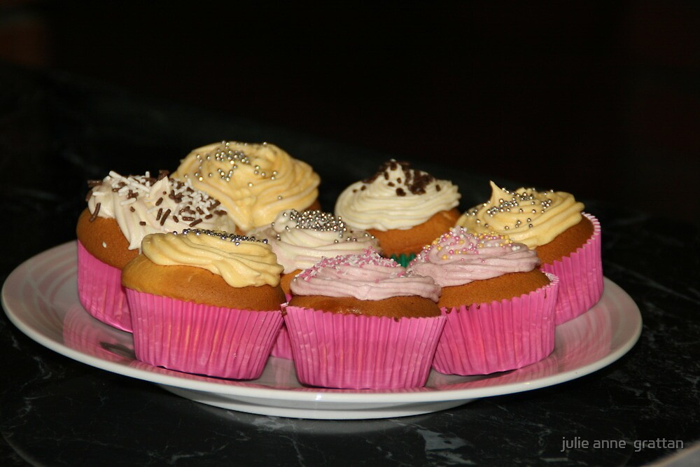 cup cakes by julie anne  grattan