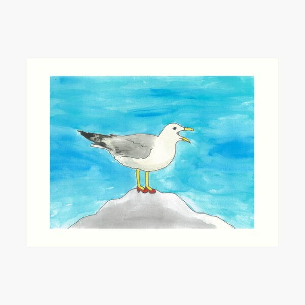 Laverne - Birds in Heels Original Art Print
