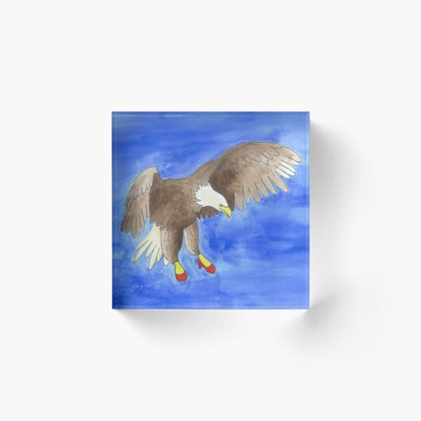 Josie - Birds in Heels Original Acrylic Block