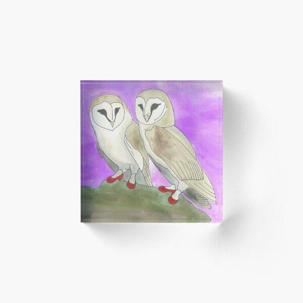 Holly and Nancy - Birds in Heels Original Acrylic Block