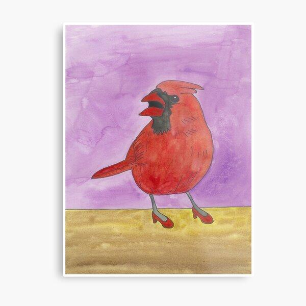Armand - Birds in Heels Original Metal Print