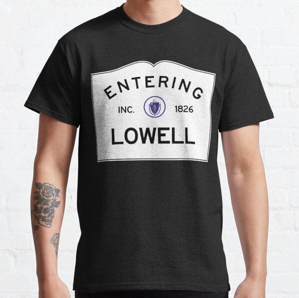 Entering Lowell Massachusetts - Commonwealth of Massachusetts Road Sign Classic T-Shirt
