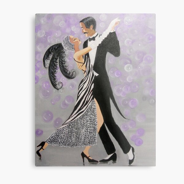ART DECO DANCERS Metal Print