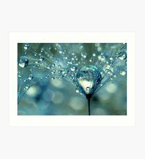 Blue Sparkles Art Print