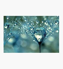 Blue Sparkles Photographic Print
