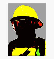 """Fireman"" - Work in which describe image of forest fireman Photographic Print"