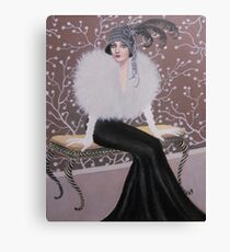 FASHIONABLE ART DECO LADY Canvas Print