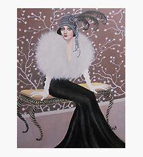 FASHIONABLE ART DECO LADY Photographic Print