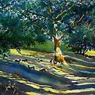 Sheep and Shade by Glenn  Marshall