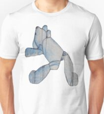 Blue Bear 3 Teddy Bear Drawing Unisex T-Shirt