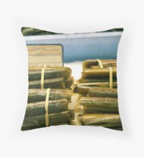 Seafood Shell in the Marketplace Throw Pillow