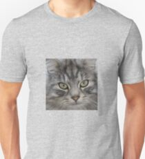 Shadow the Silver Tabby Persian Cat Unisex T-Shirt