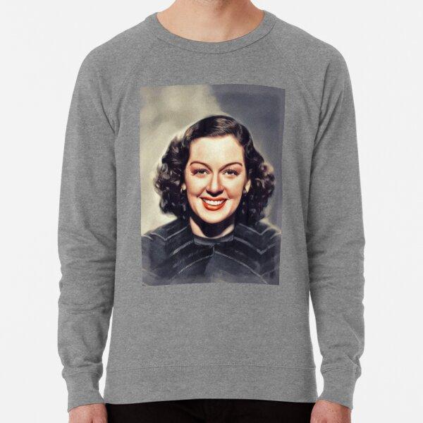 Rosalind Russell, Vintage Actress Lightweight Sweatshirt