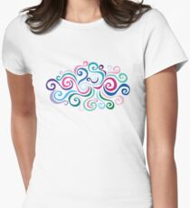 Primeval Swirls Womens Fitted T-Shirt