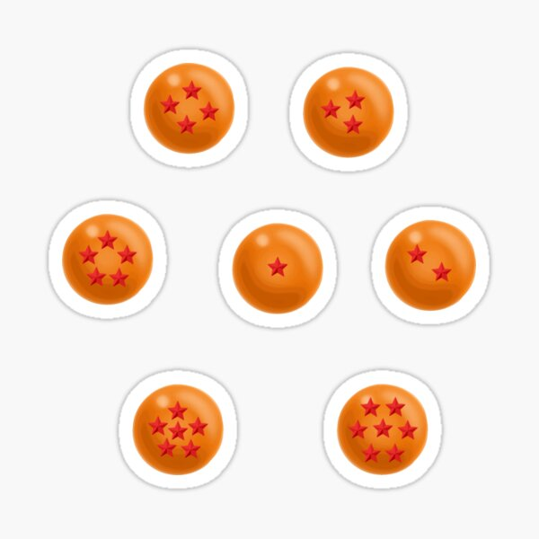 Dragon Balls - set Sticker