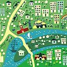 Cartoon Map of Moscow by Anastasiia Kucherenko