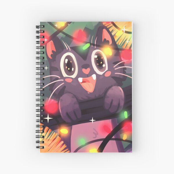 Meowy Christmas Spiral Notebook