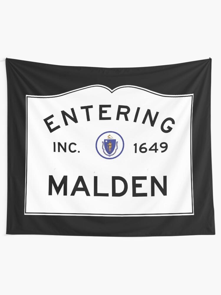 White Malden Sign