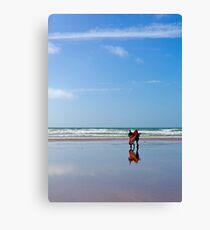 On the beach off centre Canvas Print