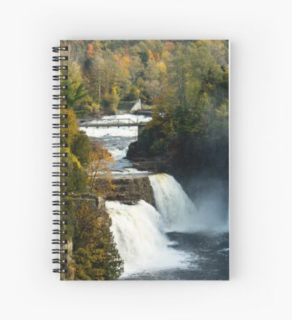 Three Watefalls at Ausable Chasm Autumn Spiral Notebook
