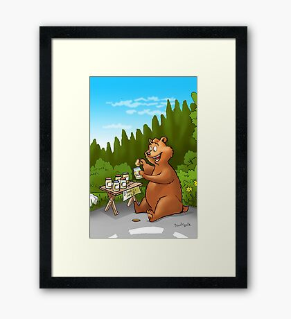 A very very happy bear Framed Print