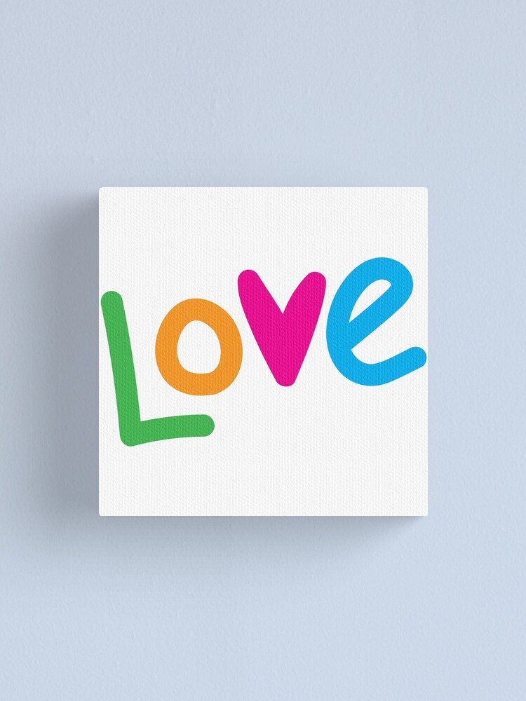Alternate view of Love color Canvas Print