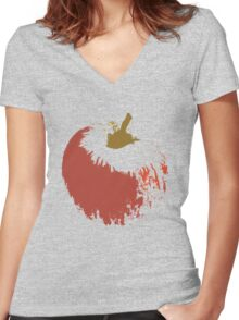 Big  Apple Women's Fitted V-Neck T-Shirt