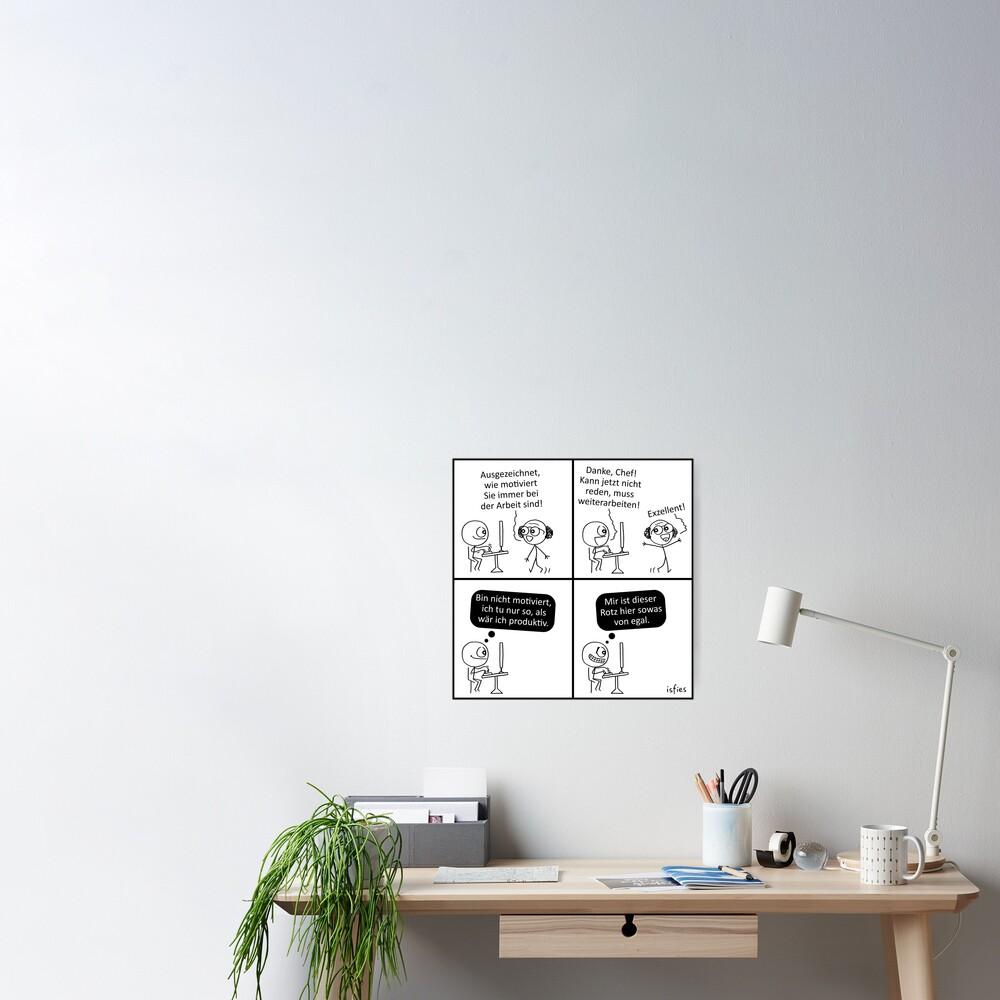 Arbeitsmoral Poster