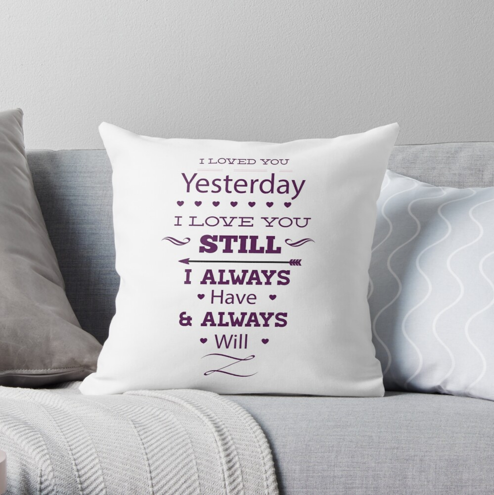 Message of love Throw Pillow