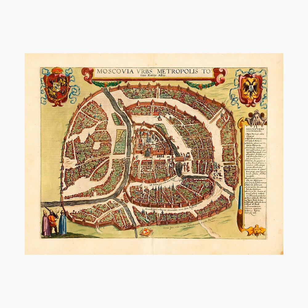 Many Sizes; Map Of Moscow Oblast Russia 1915 Poster