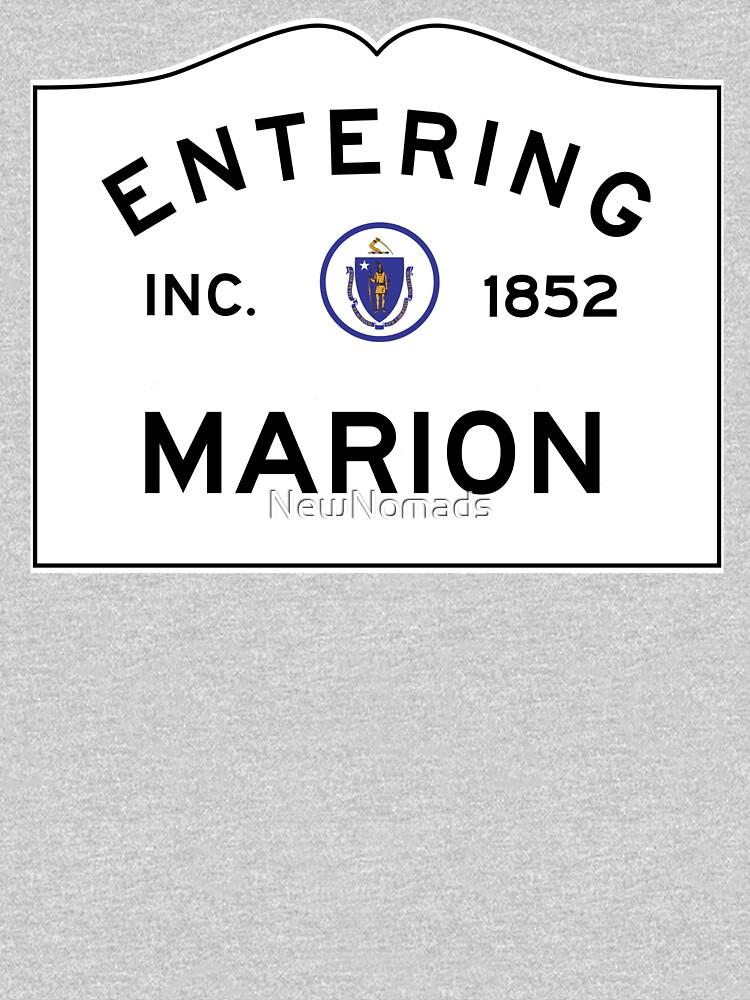 Entering Marion Massachusetts - Commonwealth of Massachusetts Road Sign  by NewNomads